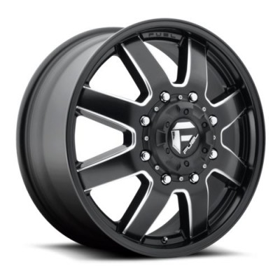 FUEL Maverick Dually Front D538 Machine Black wheel (22X8.25, 8x165.1, 125.2, 104.8 offset)