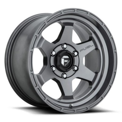 FUEL Shok D665 Matte Gun Metal wheel (17X9, 5x127, 71.5, -12 offset)