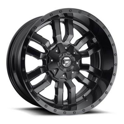 FUEL Sledge D595 Gloss Black Machine wheel (20X7, 4x156, 132, 13 offset)