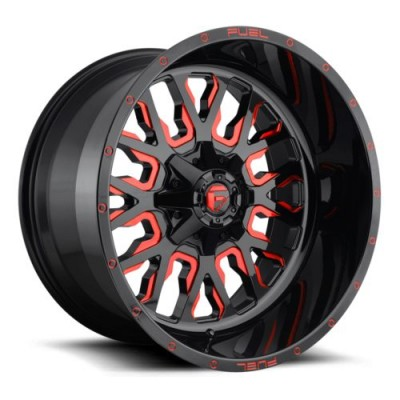 FUEL Stroke D612 Black Red wheel (17X9, 5x114.3/127, 78.1, -12 offset)