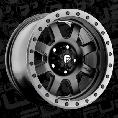 FUEL Trophy D551 17 Matte Black wheel (17X8.5, 5x114.3, 72.6, -6 offset)