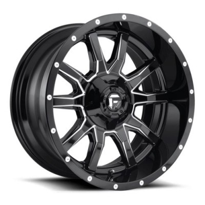 FUEL Vandal D627 Gloss Black Machine wheel (17X9, 5x114.3/127, 78.1, -12 offset)