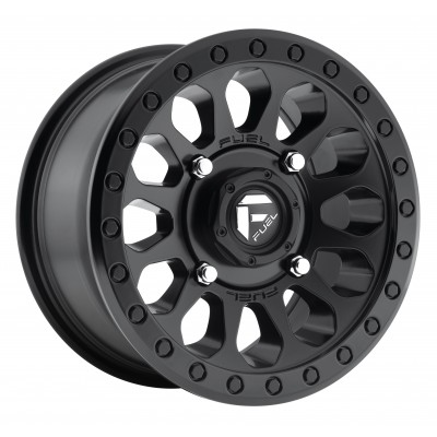 FUEL Vector UTV D579 Matte Black wheel (14X7, 4x156, 132, 13 offset)