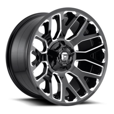 FUEL Warrior D607 Gloss Black Machine wheel (20X10, 8x165.1, 125.2, -18 offset)