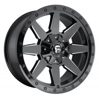 FUEL Wildcat D597 Machine Black wheel (17X9, 5x114.3/127, 78.1, -12 offset)