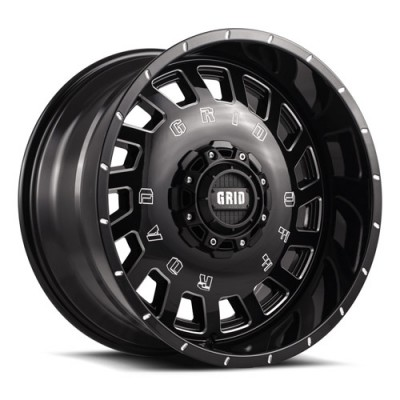 Grid GD03 Gloss Black Machine wheel (18X9, , 78.1, -20 offset)