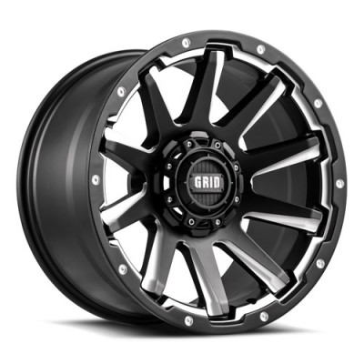 Grid GD05 Matt Black Machine wheel (18X9, , 78.1, -20 offset)