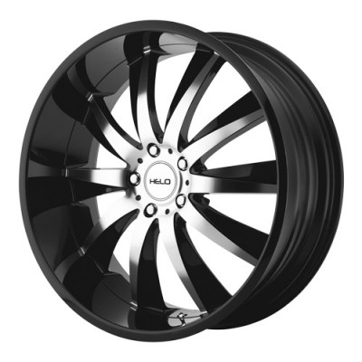 Helo Wheels HE851 Gloss Black Machine wheel (20X10, 5x120, 74.1, 40 offset)