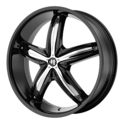 Helo HE844 Gloss Black Machine wheel (22X8.5, , 72.60, 45 offset)