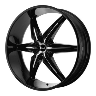 Helo Wheels HE866 Black Chrome inserts wheel (22X9.5, 6x135/139.7, 106.25, 10 offset)