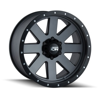 Ion 134 Matte Gun Metal wheel (20X10, 6x135, 87, -19 offset)