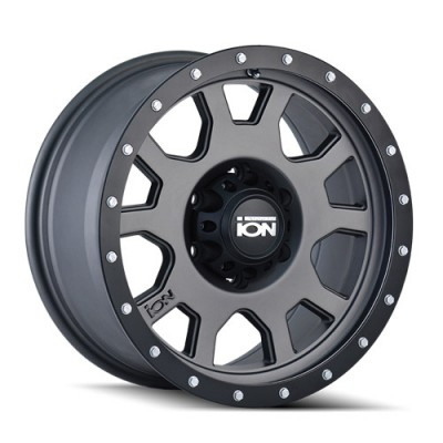 Ion 135 Matte Gun Metal wheel (15X8, 5x120.65, 83.82, -20 offset)