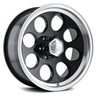 Ion 171 Black Machine Lip wheel (15X8, 5x127, 83.82, -27 offset)