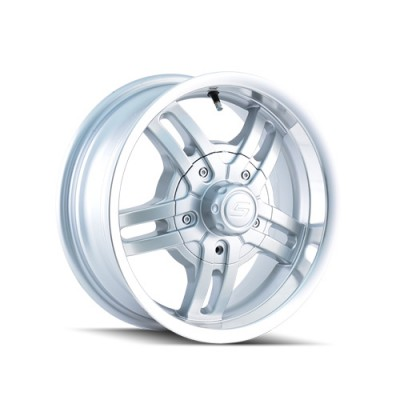 Ion Trailer 12 Hyper Silver wheel (15X6, 6x139.7, 108, 0 offset)