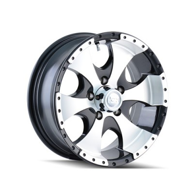 Ion Trailer 136 Machine Black wheel (15X6, 6x139.7, 108, 0 offset)