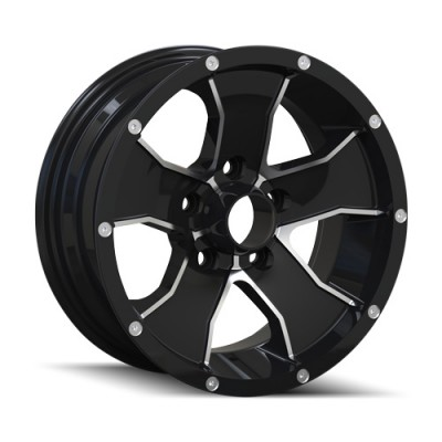 Ion Trailer 14 Machine Black wheel (14X6, 5x114.3, 83.82, 0 offset)