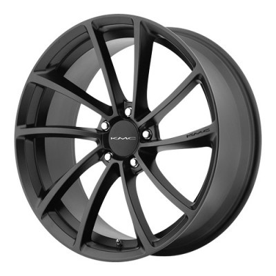KMC Wheels Spin Satin Black wheel (20X10, 5x114.3, 72.6, 40 offset)