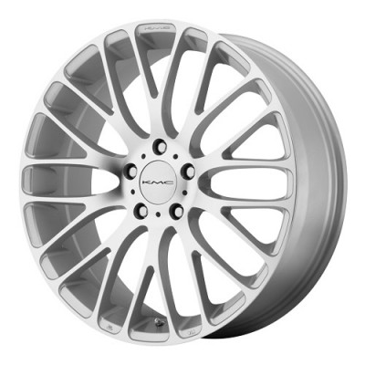 KMC Wheels Maze Machine Silver wheel (18X8, 5x108, 72.6, 40 offset)