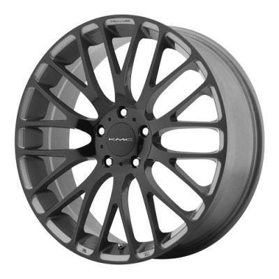 KMC Wheels Maze Grey wheel (17X7, 5x114.3, 72.6, 45 offset)