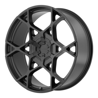 KMC Wheels Crosshair Satin Black wheel (22X9, 6x135/139.7, 100.5, 35 offset)