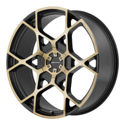 KMC Wheels Crosshair Machine Black wheel (20X8.5, 5x114.3/120, 74.1, 35 offset)