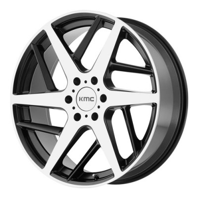 KMC Wheels KM699 Machine Black wheel (22X9, 5x127, 72.6, 35 offset)
