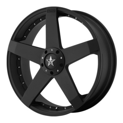 KMC Wheels Rockstar Matte Black wheel (20X8, 5x112/114.3, 72.6, 32 offset)