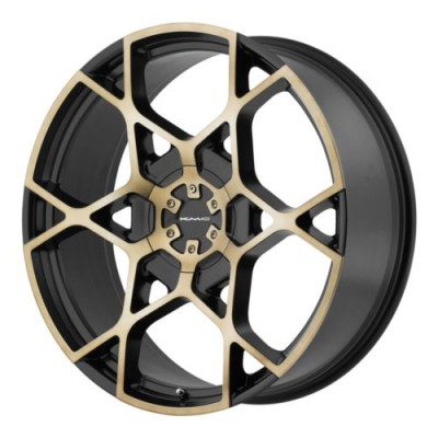 KMC CROSSHAIR Machine Black wheel (22X9, 6x120/139.7, 78.3, 15 offset)
