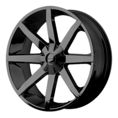 KMC KM651 SLIDE Gloss Black Machine wheel (20X8.5, 5x127/135, 87.10, 10 offset)
