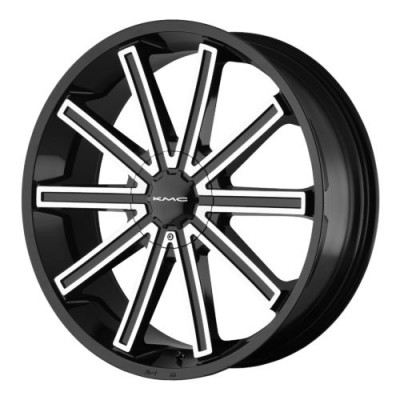 KMC KM681 NERVE Gloss Black Machine wheel (20X8.5, 5x115/120, 74.10, 15 offset)
