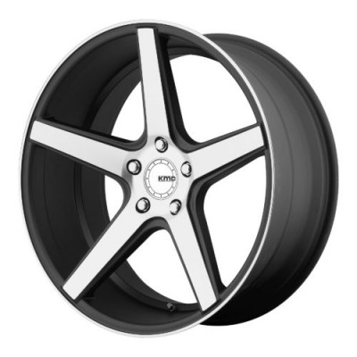 KMC KM685 DISTRICT Machine Black wheel (20X10.5, 5x112, 66.56, 45 offset)