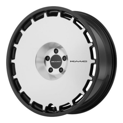 KMC KM689 SKILLET Gloss Black Machine wheel (22X9, , 72.60, 15 offset)