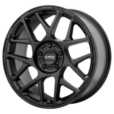 KMC KM708 BULLY Satin Black wheel (15X7, 5x114.3, 72.60, 10 offset)