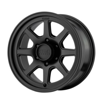 KMC Wheels KM301 TURBINE Satin Black wheel (15X8, 5x114.3, 83.06, -19 offset)
