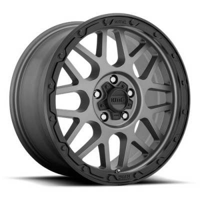 KMC Wheels KM535 GRENADE OFF-ROAD Dark Matte Grey wheel (17X9, 8x165.1, 125.5, 18 offset)