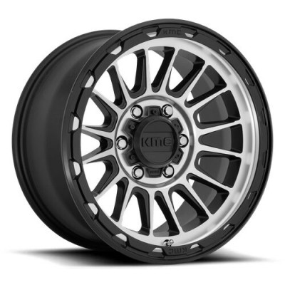KMC Wheels KM542 IMPACT Satin Black wheel (17X8.5, 8x180, 124.2, 0 offset)