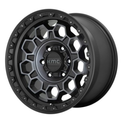 KMC Wheels KM545 Satin Black wheel (17.00X8.00, 6x139.70, 106.1, 20 offset)
