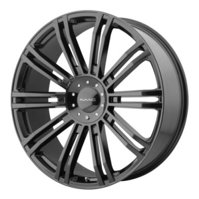 KMC Wheels KM677 D2 Gloss Black wheel (20X8.5, 6x120/139.7, 78.3, 10 offset)