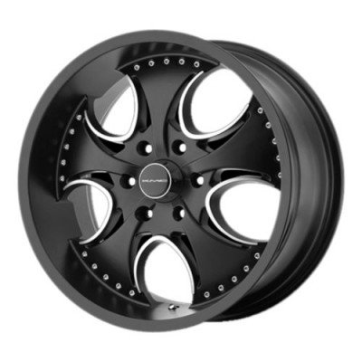 KMC Wheels KM755 VENOM Matte Black wheel (24X9.5, 5x120.65, 72.6, 12 offset)