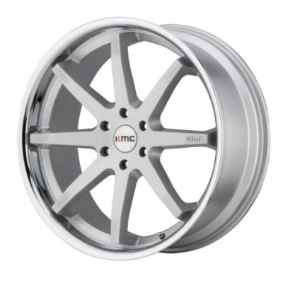 KMC Wheels REVERB Machine Silver wheel (20X9, 5x114.3, 72.6, 30 offset)