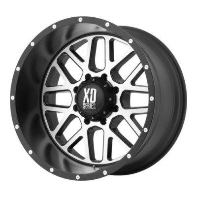 KMC Wheels XD820 GRENADE Satin Black wheel (22X10, 5x127, 78.3, -24 offset)