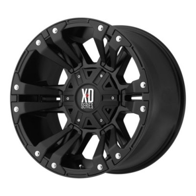 KMC Wheels XD822 MONSTER II Matte Black wheel (17X9, 5x120, 74.1, 30 offset)