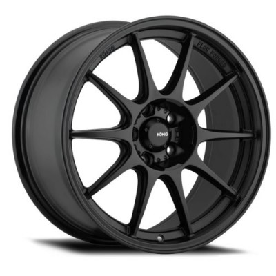 Konig Dekagram Matte Black wheel (16X8, 4x108, 73.1, 40 offset)