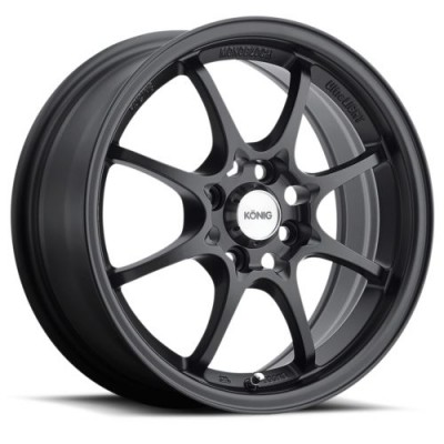 Konig Helium Black wheel (15X6.5, 4x100, 73.1, 40 offset)