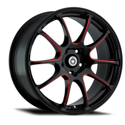 Konig Illusion Black wheel (17X7, 5x100, 73.1, 40 offset)