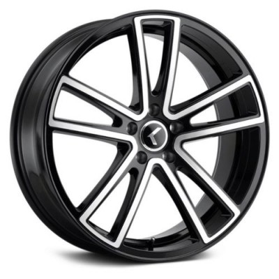 Kraze 190 Machine Black wheel (18X8, 5x108, 63.5, 40 offset)