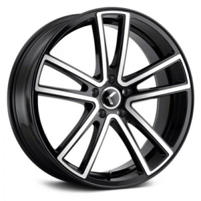 Kraze 190 Black Machine Lip wheel (18X8, 5x120, 74.1, 40 offset)
