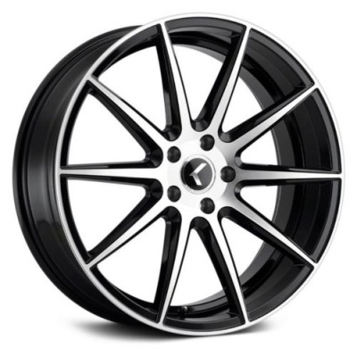 Kraze 191 Machine Black wheel (18X8, 5x108, 63.5, 40 offset)
