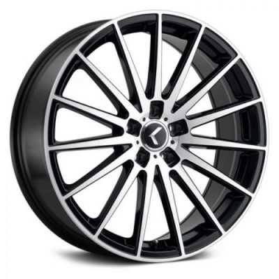 Kraze 191 Black Machine Lip wheel (18X8, 5x120, 74.1, 40 offset)