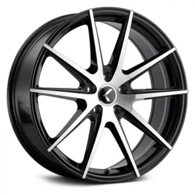 Kraze 193 Black Machine Lip wheel (18X8, 5x112, 66.56, 40 offset)